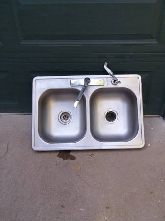 Photo Sold Stainless Steel Double Sink Sold (Mount Shasta)