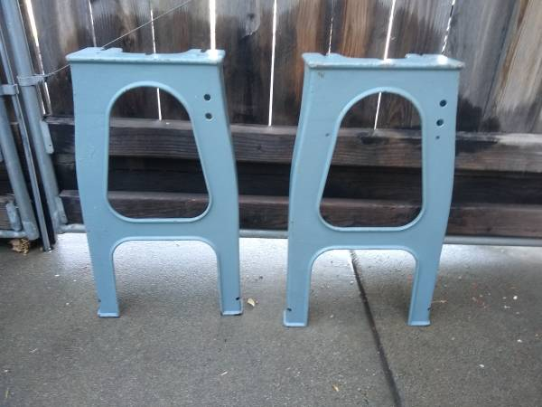 Photo Vintage Delta Rockwell Wood Lathe Cast Iron Table Stand Legs - $275 (Chico)