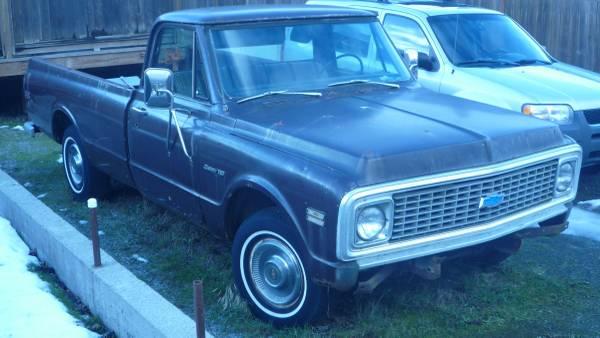 Photo 1972 chevy c10 12 ton long box pickup - $2,400 (mount vernon wa.)