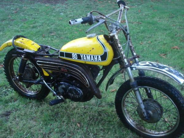 Photo 1974 Yamaha GT-80 project kids dirtbike motorcycle wparts bike. - $500 (Federal Way)