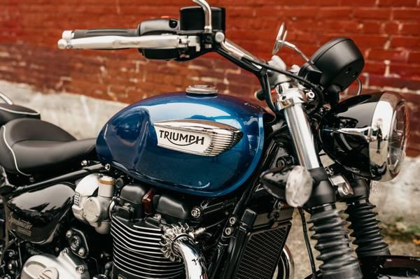 Photo 2020 Triumph Bonneville Speedmaster - Cobalt Blue - $12,400 (TRIUMPH OF SEATTLE)