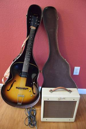 Photo 3958 Vintage Gibson ES-125T Electric Guitar and Gibson Amplifier - $2,500 (Camano Island)