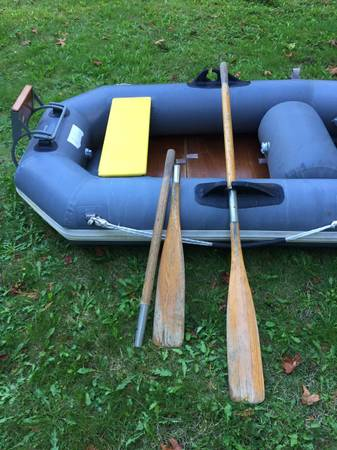 Photo Avon 8 Inflatable Boat Dinghy with oarstransom - $550 (Camano Island)