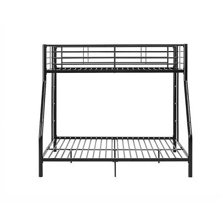 Photo Black metal bunk bed frame twin over full - $200 (Anacortes)