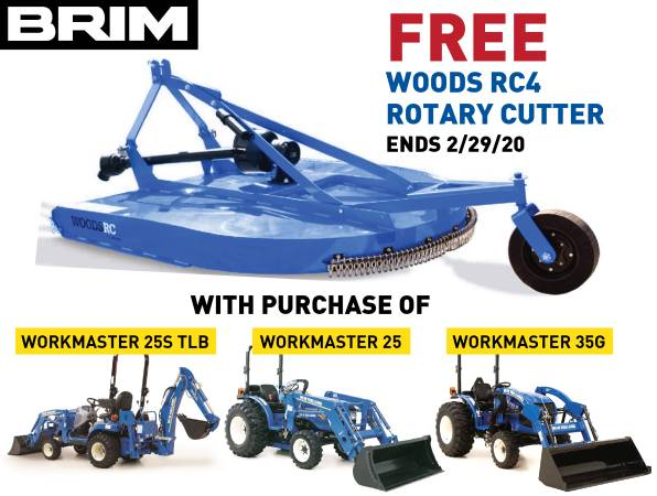 Photo FREE Woods RC4 Rotary Cutter with New Holland Tractor Purchase (Mount Vernon)