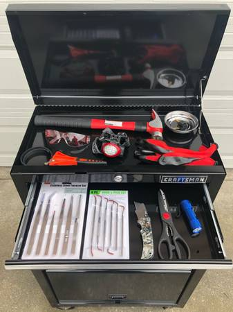 Photo New Craftsman 2 Tier Tool Chest w Tools - $480