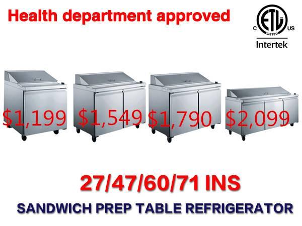 Photo Salad Sandwich Prep Table Refrigerator RESTAURANT EQUIPMENT - $1,258 (covina)