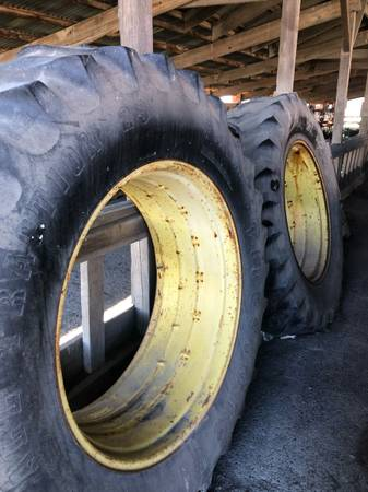 Photo Used tractor tires with rims - $300 (Mount Vernon)