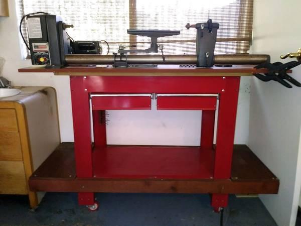 Photo 12quot Craftsman Lathe w Work Bench  Tools - $350 (Atascadero)