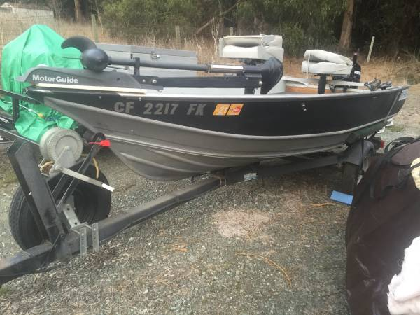 Photo 1974 Gregor 14 ft set up for bass fishing - $3,600 (Los osos)
