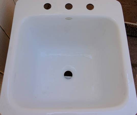 Photo Cast Iron White Utility Sink, Drop-In  Undermount - $300 (Arroyo Grande)