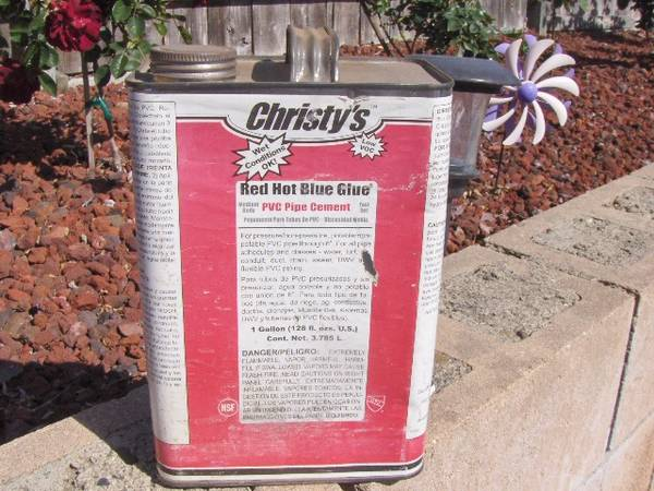 Photo Christies Red Hot Blue Glue (for PVC pipes) - 1 GALLON - $45 (Grover Beach)