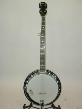 Photo Epiphone Masterbuilt Banjo mb-100 in excellent condition 5 string - $440 (arroyo grande)
