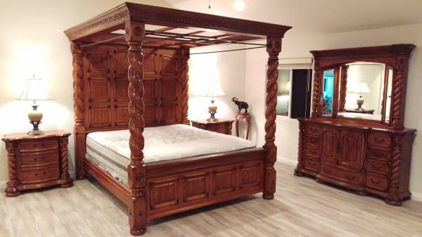Master Bedroom Set Michael Amini Cal King 4995 Furniture For