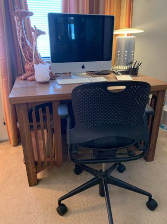 Photo Mission Style Desk - $200 (SLO Flower Streets)