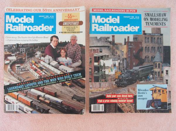 Photo Model Railroad Magazines and Track Layout Plans - $7 (Atascadero, Ca.)