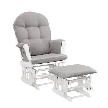 Photo NEW Angel Line Glider with Ottoman White w Grey Cushion - $100 (Atascadero)