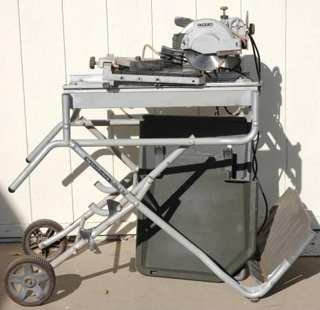 Photo Ridgid Job-Site Wet Tile Saw - Needs two wheels for sliding table - $200 (Arroyo Grande)