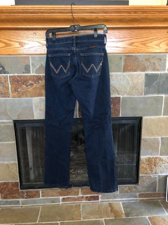 Photo WRANGLER Q-Baby Jeans, Size 12 with 32 Length - $30 (SLO)