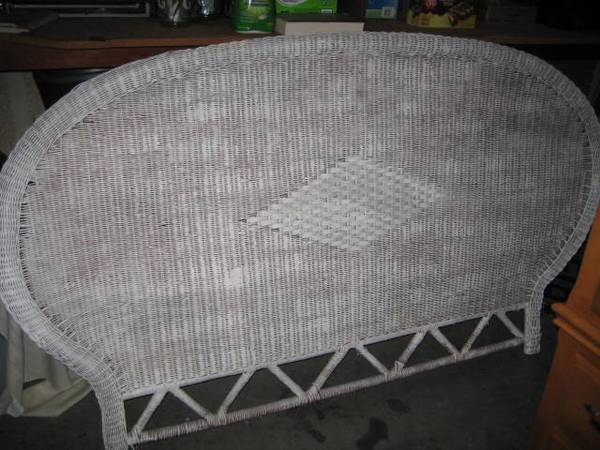 Photo Wicker King Size Bed Headboard (slo)