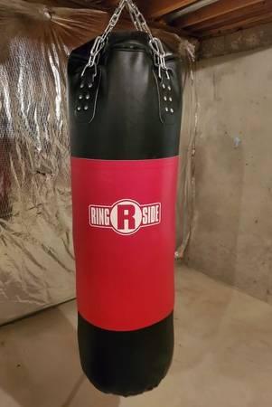 Photo 100 lbs Heavy Bag, I-Beam Mount, Reflex Bag and 16oz Boxing Gloves - $375 (Waldorf, MD)
