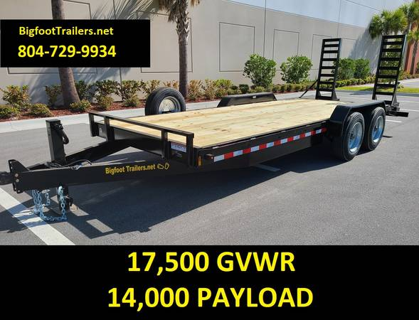 Photo 17.5K Equipment Trailer 20ft 24ft 7x20 Flatbed John Deere Kubota 14k - $6,999 (Equipment Trailers)