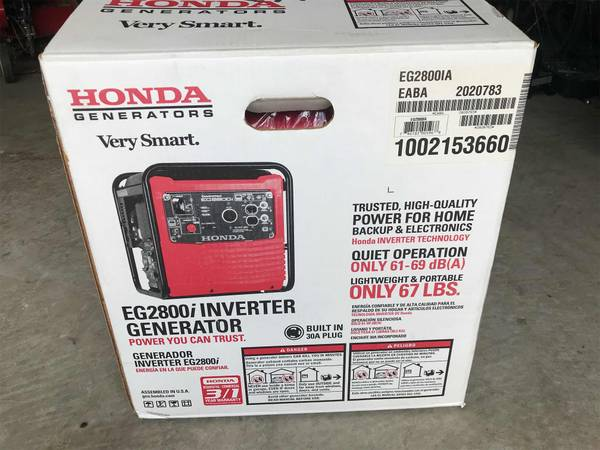 Photo Brand New - Honda Generator - EG 2800 - Quiet - $900 (Lexington Park MD)