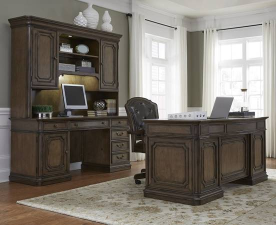 Photo Estate Style Mahogany 3 Piece Desk Set Demands Attention-Like NEW - $2,895 (Southern maryland,Maryland)
