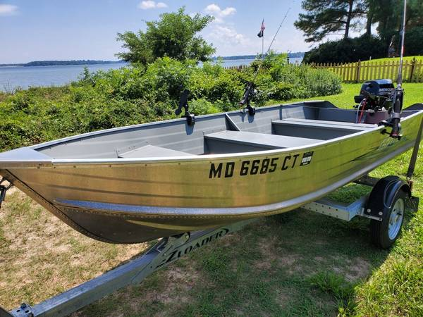 Photo Jon Boat, Engine and Trailer for Sale - $4,700 (Lusby)