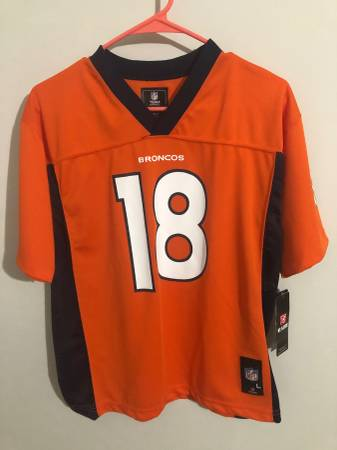 Photo Peyton Manning Denver Broncos youth team apparel XL new with tags - $36 (Sterling)