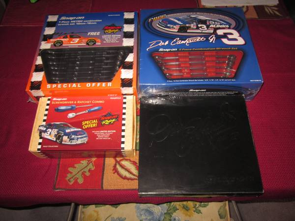 Photo Snap On Dale Earnhardt and Dale Jr Collectible Wrenches Tools - $550 (Southern Md)