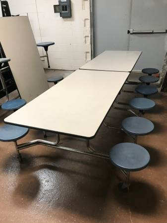 Photo Fold up Cafeteria tables - $400 (South Bend)