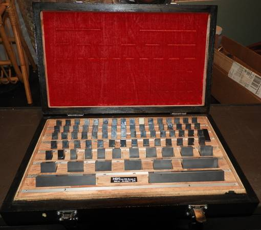 Photo HDT 81 PC CARBIDE GAGE BLOCK SET 0.05 - 4quot GRADE 3 VERY LIGHTLY USED - $450 (south bend)
