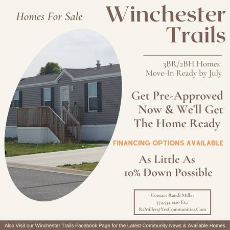 Photo Homes Available Soon At Winchester Trails- For Sale (Goshen)