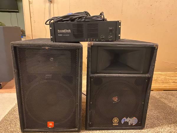 Photo JBL JRX100, Yamaha S115V, and 800w Sound Tech PL802 power Amp - $350 (South Bend)