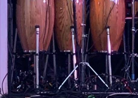 Photo Meinl Professional conga drum stands (3) with wheeled bag - $250 (SOUTH BEND)