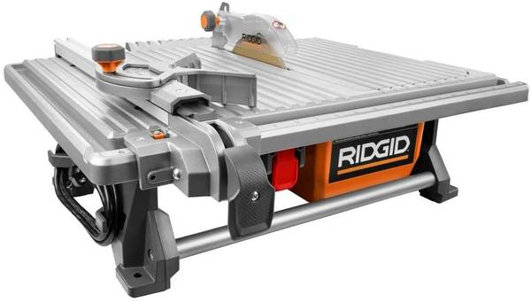 Photo NEW Ridgid 6.5 Amp Corded 7 in. Table Top Wet Tile Saw - $170 (Goshen)