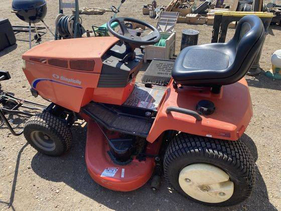 Photo NICE SIMPLICITY TRACTOR WITH 50quot DECK AND SNOWBLOWER - $1 (GOSHEN)