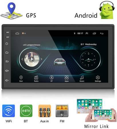Photo New Podofo Car GPS Navigation Car Audio Stereo 2 Din Android Media - $105 (three rivers mi)