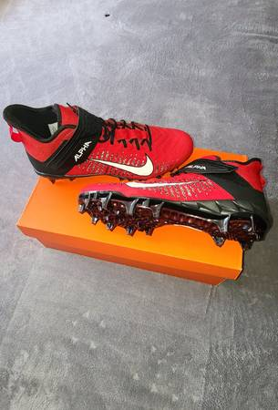 Photo Nike Alpha Menace Pro 2 Mid Football Cleats- Size 12 men39s (worn once) - $55 (Buchanan, Michigan)