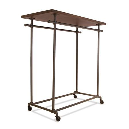 Photo Retail display for clothing - 1 clothing double bar frame with top - $170 (Niles)