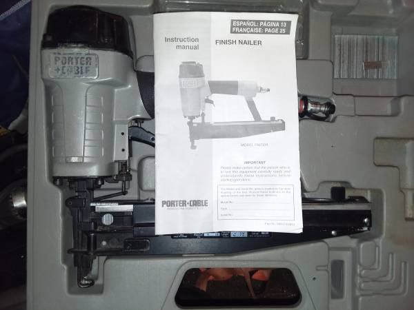 Photo 15 guage porter cable straight finish nailer for sale. - $75 (east taunton)