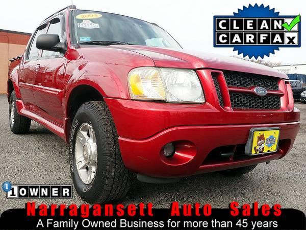 Photo 2004 Ford Explorer Sport Trac 4X4 V-6 Auto Air Full Power 1-Owner - $4995 (Narragansett-Auto-Sales.com)