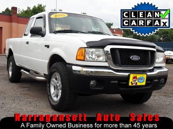 Photo 2005 Ford Ranger SuperCab 4X4 V-6 Auto Air Full Power Only 94K - $7,995 (Narragansett-Auto-Sales.com)