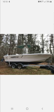Photo 21ft Proline center console with T-Top - $10000 (plymouth MA)