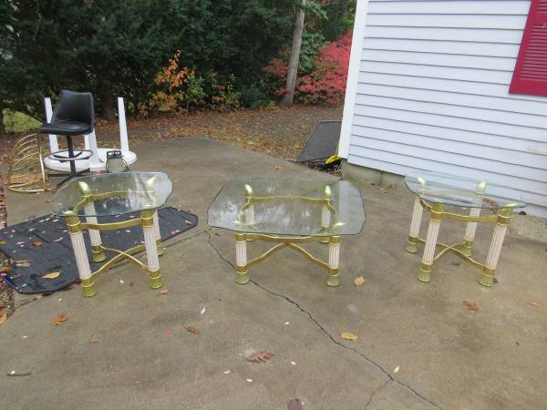 Photo 3 PIECE GLASS LVINGROOM TABLES VERY STURDY - $30 (UPPER CAPE)