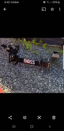 Photo Boss snow plow push plate off 2017 superduty - $200 (Portsmouth)