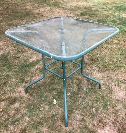 Photo Glass High Top Patio Table - $10 (Dartmouth)