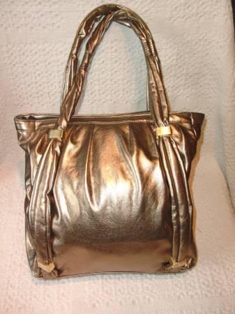 Photo Handbag Botkier Bronze Metallic Faux Leather Designer - $18 (Westport)