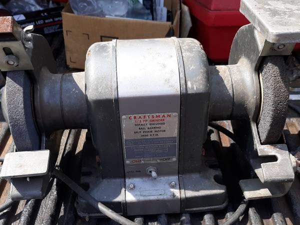 Photo Vintage Craftsman Bench Grinder (Block Grinder) - $50 (CARVER)
